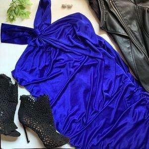 Royal blue STUNNING Le Chateau dress.